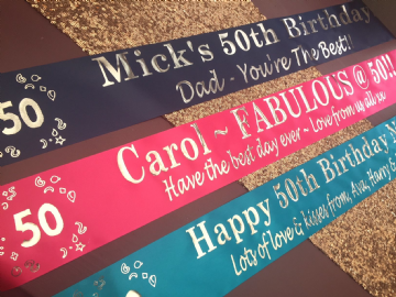 50th Birthday Banner Personalised